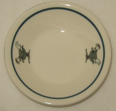 Vtg Rooster Iroquois China Syracuse NY Small Ironstone Condiment Sauce Dish Bowl