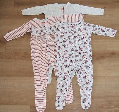 Next - Baby Girls - Set Of 3 Floral Sleepsuits - Age 9 - 12 Months