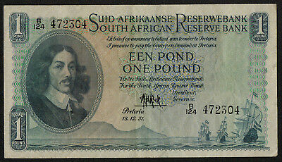 SOUTH AFRICA (P093e) 1 Pound 1951 aVF/VF