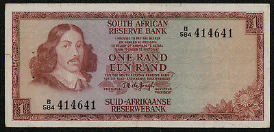 SOUTH AFRICA (P115b) 1 Rand ND(1973) F+