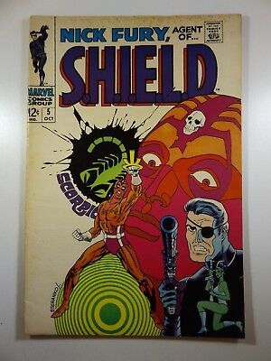 """Nick Fury, Agent of Shield #5 """"Whatever Happened To Scorpio!"""" Fine Condition!!"""