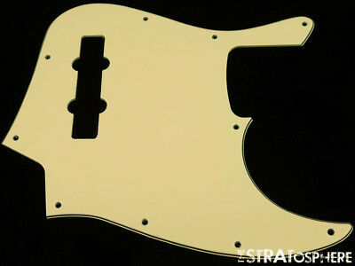 * NEW Aged White PICKGUARD for Fender Jazz Bass 3 Ply Standard 10 Hole