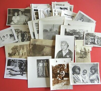 HUGE LOT of 100 Vintage SNAPSHOTS Photos OLD PHOTOGRAPHS 1940s-1950s-1960s Orig