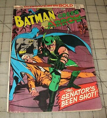 BRAVE & THE BOLD #85 (Sept 1969) Low-Grade Cond Comic - New Green Arrow Costume