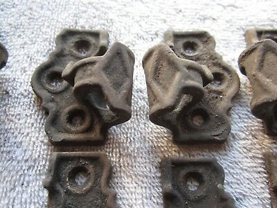 10 Antique Cast Iron Shutter Hinges, Female Side Only 5 Left & 5 Right