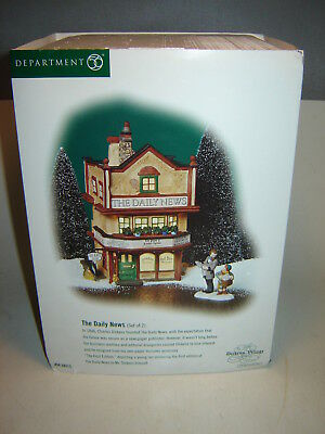 Dept 56 Dickens Village - The Daily News - Missing Accessory - Building Only