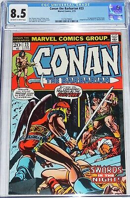 Conan the Barbarian #23 CGC graded 8.5 from Feb 1973 1st appearance of Red Sonja