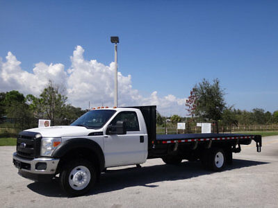 2012 Ford Super Duty F-550 DRW Flatbed 2012 Ford F550 Super Duty 18ft Flatbed 6.8L V10 Gas FL Truck Lift Gate F-550