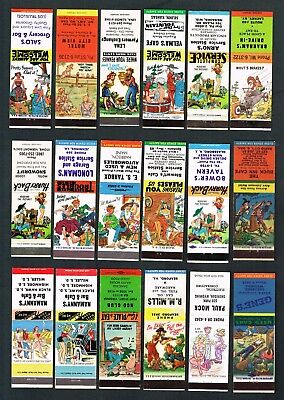 Matchbook Cover Lot of (36) Hillbilly, From 20 Different States, 20-Strikes