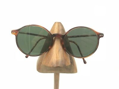 a86bde3c5a Vintage Giorgio Armani 362 176 Tortoise Gold Oval Round Sunglasses Frames  Italy