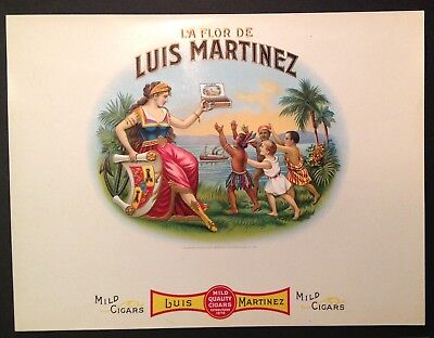 LUIS MARTINEZ a Key West and Tampa Antique cigar Box label