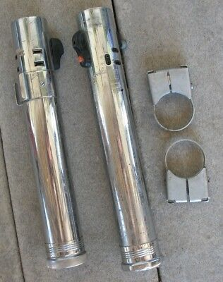 2 vintage Heiland 3 cell flash tubes light sabers + clamps for modify, restore,