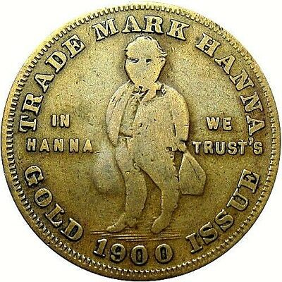 1900 McKinley & Bryon Satirical Political Campaign Token Wounded Elephant