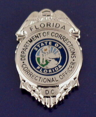 Florida Department of Corrections Mini Badge Lapel Pin FL DOC state police DC