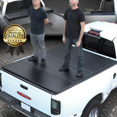 For 15-18 Ford F150 6.5Ft Truck Short Bed Frp Hard Solid Tri-Fold Tonneau Cover