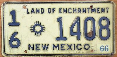 1966 New Mexico License Plate Number Tag - $2.99 Start