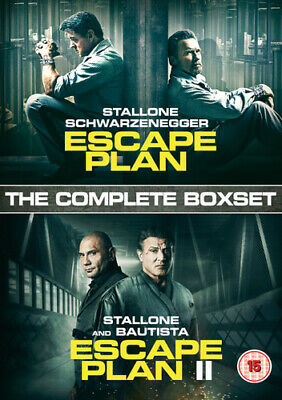 Escape Plan/Escape Plan II DVD Sylvester Stallone, Håfström (DIR) cert 15 2