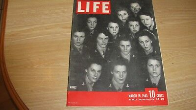 1943 Life Magazine  March 15  Waves   High Grade Lowest Price On Ebay
