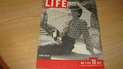 1943 Life Magazine  May 3   Spring Match   High Grade Lowest Price On Ebay