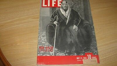 1943 Life Magazine  May 31  Ibn  Saud   High Grade Lowest Price On Ebay