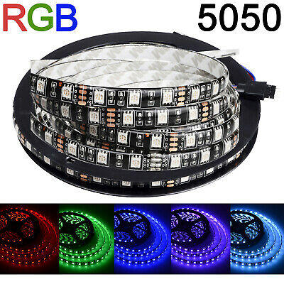 Lot1/5/10/20/30 5050 RGB LED Flexible Strip Light Waterproof 300LED Fast US Ship