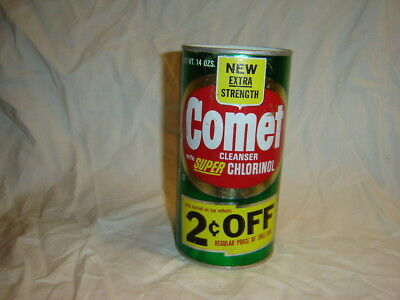 Vintage Comet Cleanser Can 2 cents Off no UPC with old Proctor and Gamble logo