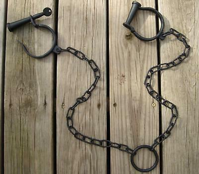 cast iron working PIRATE SHIP SHACKLES brig leg irons