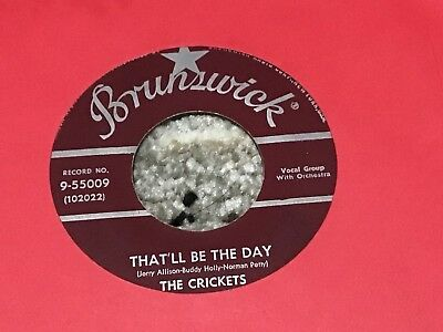 45 RPM  Buddy Holly Crickets BRUNSWICK 55009 That'll be the Day VG+