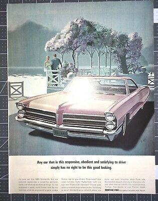 Life Magazine Ad PONTIAC BONNEVILLE 1965 The Year of the Quick Wide-Tracks