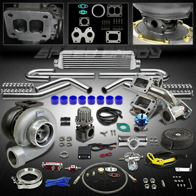 Gt45 13Pc T4 Turbo Kit Turbocharger+Manifold+Intercooler 86-91 Mazda Rx-7/rx7 Fc