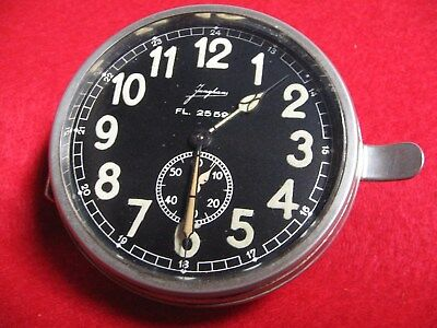 WW2 GERMAN  OFFICERS DUTY ROOM - LUFTWAFFE  CLOCK - ALL Nickle SUPERB