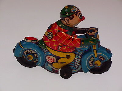 "GSMOTO NEW PENNY TOYS ""CLOWN MOTO""  HK 561 GERMANY, 10cm,SEHR GUT/VERY GOOD  !"