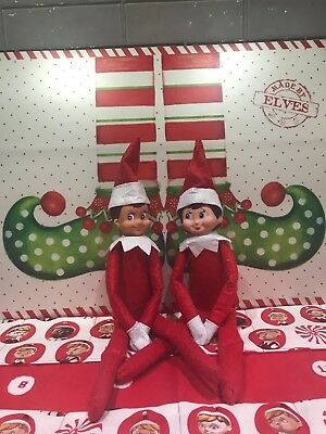 RED Christmas Male & Female Elf Set - 2 Doll Set (The BEST of CHRISTMAS yet)