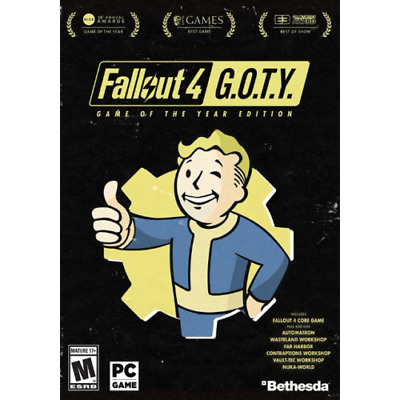 Fallout 4 Game of the Year Edition (GOTY) PC Steam Global Key - Email Delivery