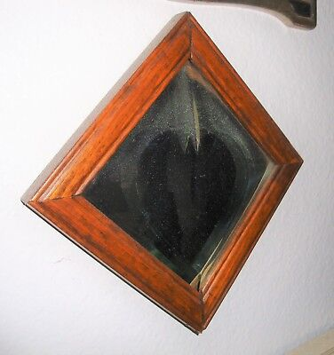 Antique Framed Cut Glass Heart Mirror Please Look