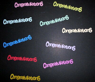 Textured  Cardstock Die-cuts *CONGRATULATIONS*  Scrapbooking/Cardmaking
