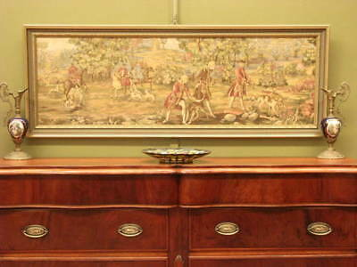 French Style Tapestry Picture #2 ~Gilt Detail Frame,period Scene, Suit Antiques