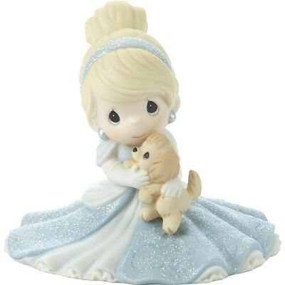 $ New PRECIOUS MOMENTS DISNEY Porcelain Figurine CINDERELLA PRINCESS Puppy Dog