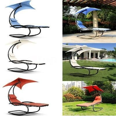 Super Rocking Outdoor Patio Chaise Lounge Chair W Canopy Garden Ocoug Best Dining Table And Chair Ideas Images Ocougorg