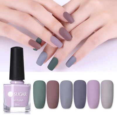 6ml UR SUGAR Matte Nail Polish Pure Color Manicure Nail Art Varnish Gray Series