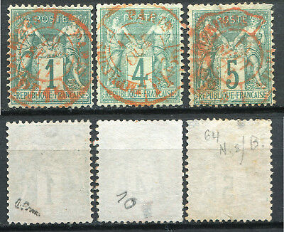 FRANCE 1876  BEAU LOT de 3 timbres  Cote 305,00€