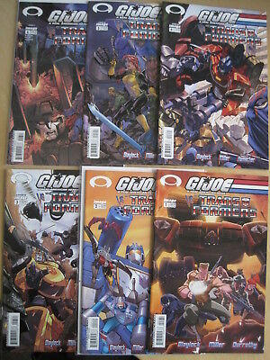 G.I.JOE vs TRANSFORMERS : COMPLETE 6 issue IMAGE 2003 SERIES by BLAYLOCK, MILLER
