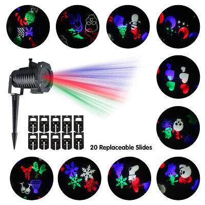 Impermeabile Luce del proiettore Lens Rotating Multicolor Party Natale IP44 LED