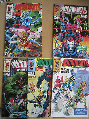 Micronauts Special Edition : Complete 5 Issue 1983 Marvel Series.mantlo & Golden