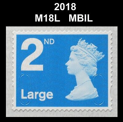 2018 - 2nd Large - M18L - MBIL  Single Stamp from Business Sheet on SPB2i Paper