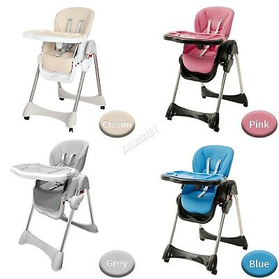 GALACTICA  Portable Baby High Chair Infant Soft Leather Feeding Nursery BHC04