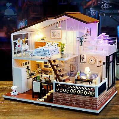 DIY Handcraft Miniature Project Wooden Dolls House My Little Villa in Vancouver