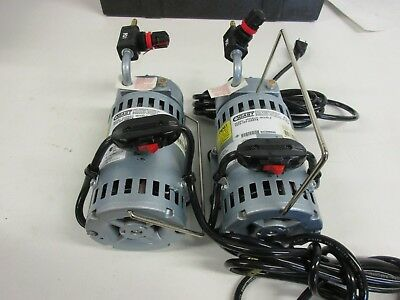 Gast 1532-107-G557X Lot of 2 Air Sampling Pumps with Case
