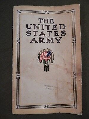 1913 U.S. Army Recruiting Booklet, THE UNITED STATES ARMY AS A CAREER, Complete,