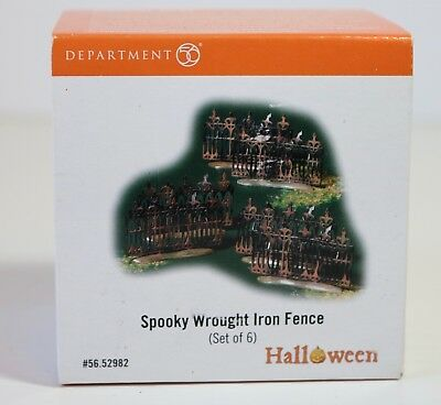 Department 56 Halloween Spooky Wrought Iron Fence (Set of 6) #56.52982